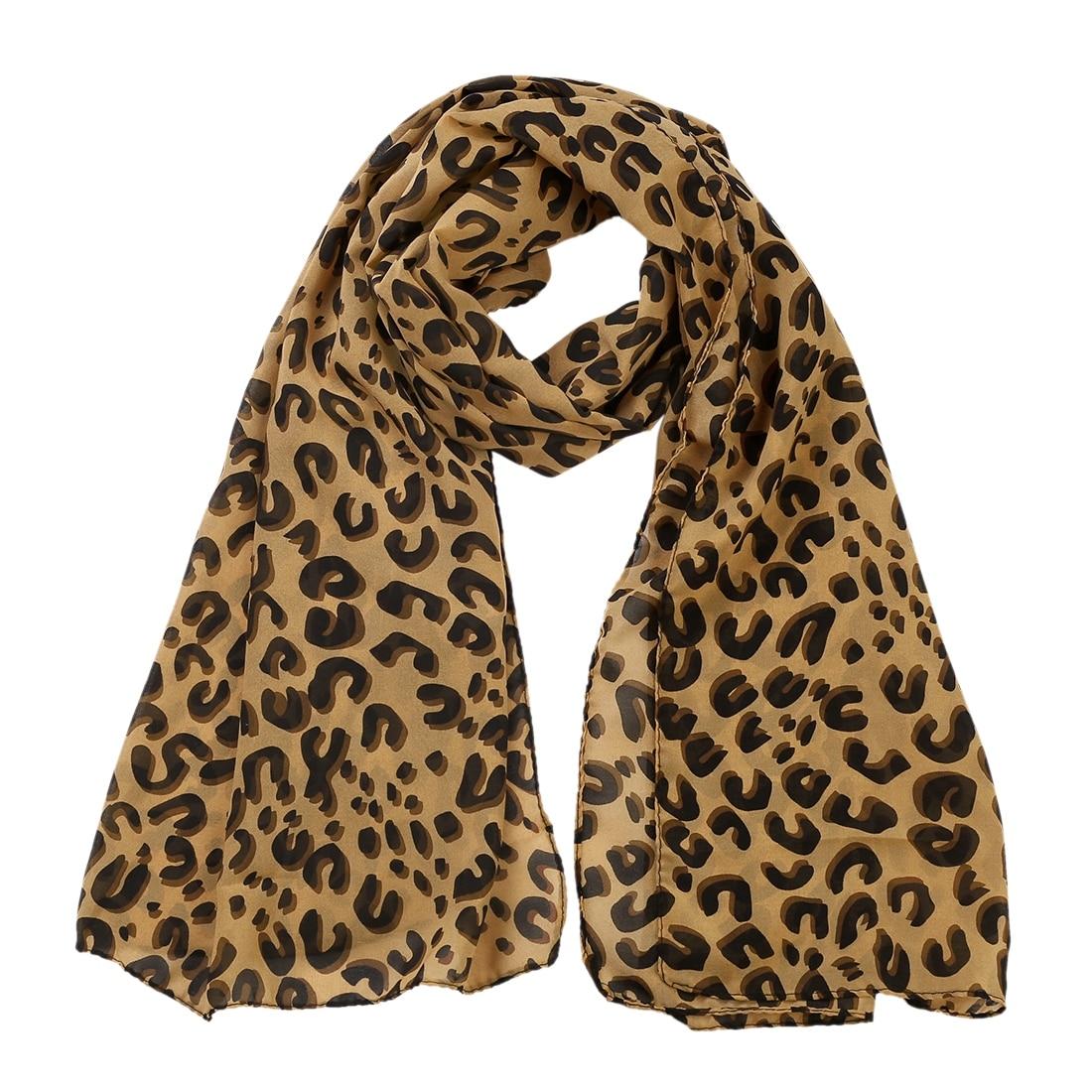 Premium Quality Soft Leopard print Chiffon Scarf NEW