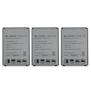 Replacement 3000mAh Battery For LG BL-53YH / EAC62378905XXB Battery Models (3 Pack)
