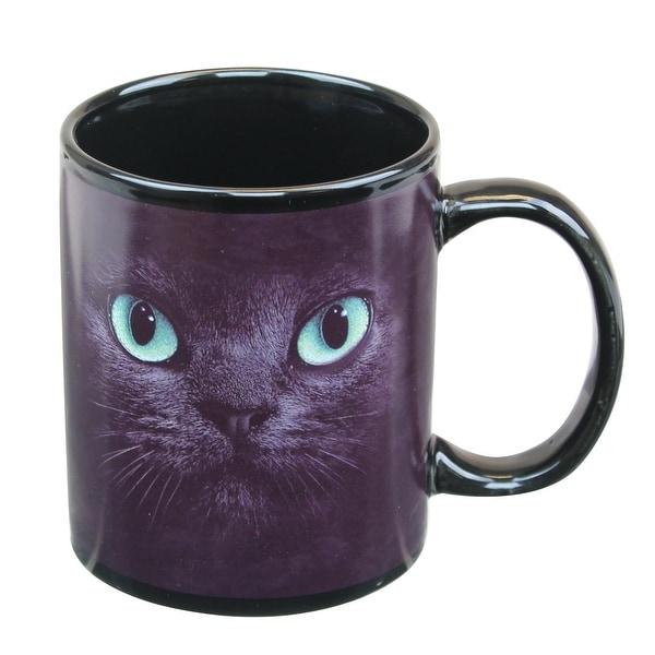 Shop Black Cat With Green Eyes 11oz Coffee Mug Multi Free