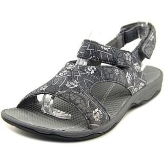 Easy Spirit Yogala Women WW Open-Toe Canvas Gray Sport Sandal