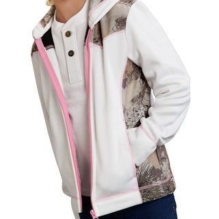 Roper Western Jacket Girls Kids Fleece Zip White 03-298-0692-0471 WH