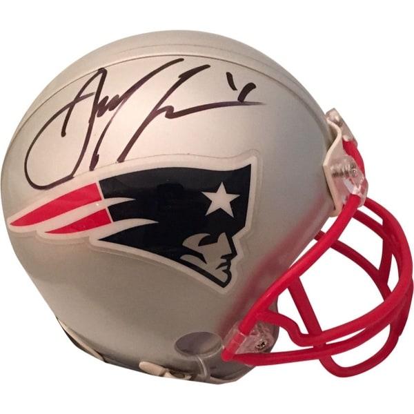 acac7fd7 Shop Julian Edelman Autographed New England Patriots Signed Football Mini  Helmet PSA DNA COA - Free Shipping Today - Overstock.com - 24101211