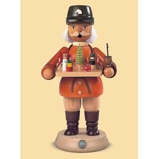"8.5"" Muller Collectible German Male Toy Seller Smoking Man Wooden Christmas Smoker"