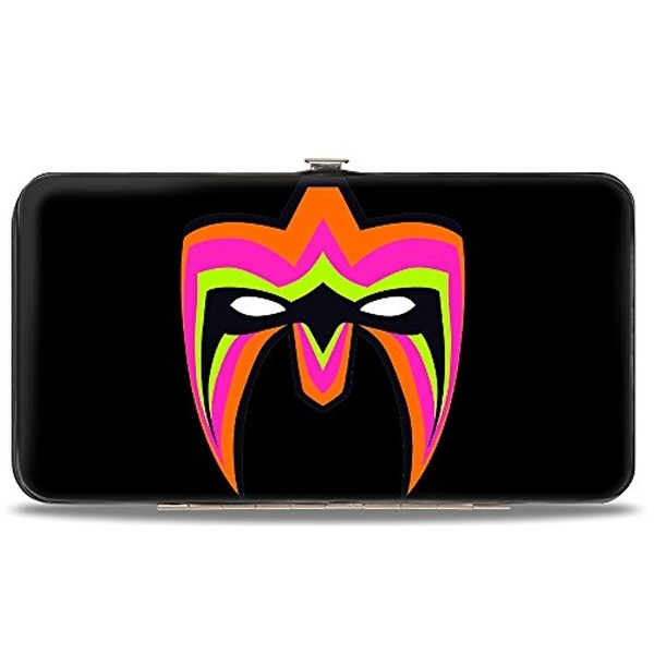 Ultimate Warrior Parts Unknown Mask + Ultimate Warrior Mask Logo Black Hinge Wallet One Size - One Size Fits most