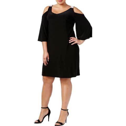 MSK Women Womens Plus Clubwear Dress Cold Shoulder Embellished
