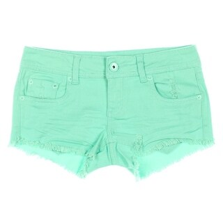 Dollhouse Womens Juniors Denim Shorts Distressed Cotton - 7