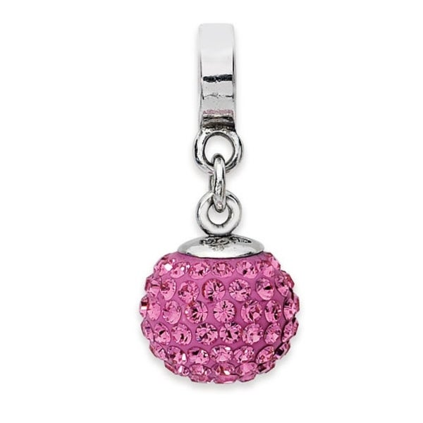 Sterling Silver Reflections Oct Swarovski Elements Ball Dangle Bead (4mm Diameter Hole)