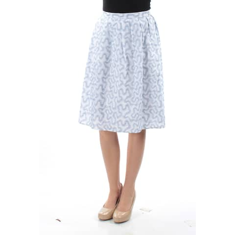 MICHAEL KORS Womens Light Blue Embroidered Above The Knee A-Line Skirt Size: 0