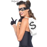Bandit Costume Kit, Hoty Robber Costume - Black - One Size Fits Most