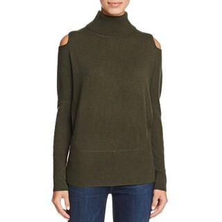 Private Label Womens Turtleneck Sweater Cashmere Cold Shoulder
