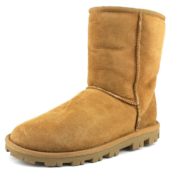 Ugg Australia Essential Short Women Round Toe Suede Tan Winter Boot