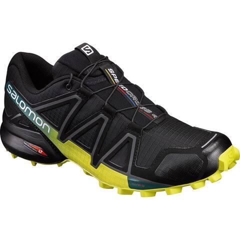Salomon Men Speedcross4 Trail Running,Black/Everglade/Sulphur,9.5 M US