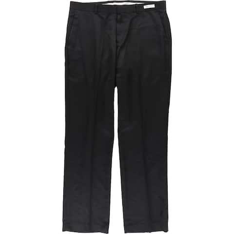 Perry Ellis Mens Non-Iron Luxury Folio-Flex Dress Pants Slacks, Black, 34W x 32L - 34W x 32L
