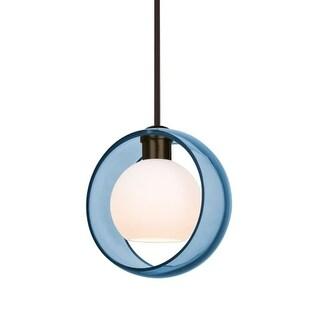 "Besa Lighting 1TT-MANABL Mana Single Light 9"" Wide Mini Pendant"