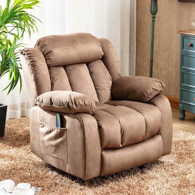 Big Massage Recliner Chair with Heat and Vibration Manual Rocker