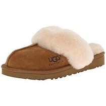 UGG Unisex Cozy Slide Slipper, Chestnut, 1 M US Big Kid