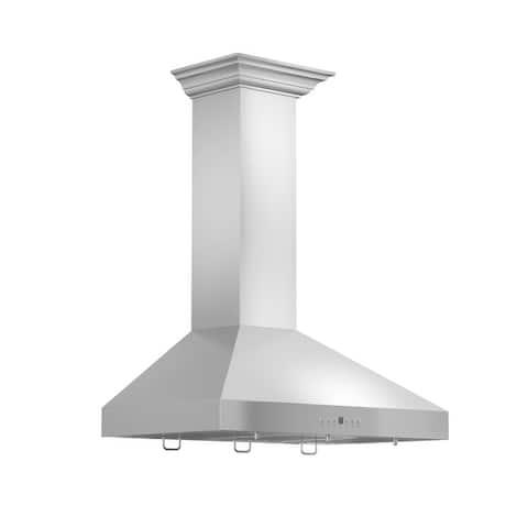 ZLINE Convertible Vent Wall Mount Range Hood in Stainless Steel