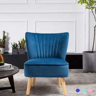 Link to Costway Armless Accent Chair Modern Velvet Leisure Chair Single Similar Items in Living Room Chairs