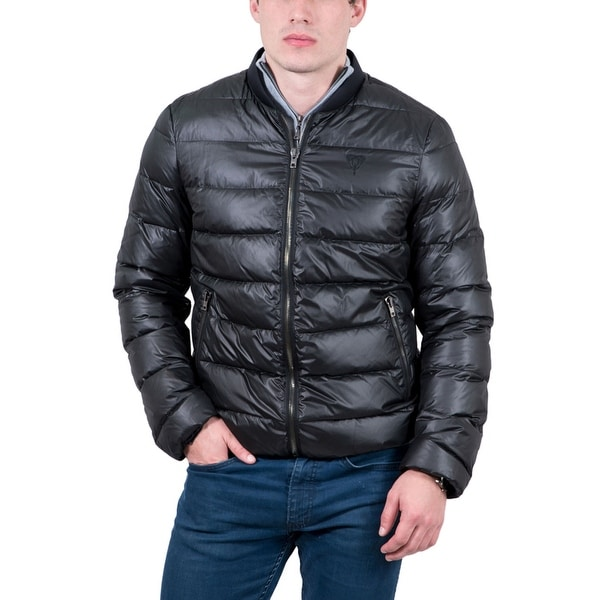 Byblos Black Quilted Puffer Jacket. Opens flyout.
