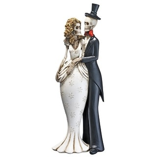 Design Toscano Halloween  Day of the Dead Skeleton Bride and Groom Statue