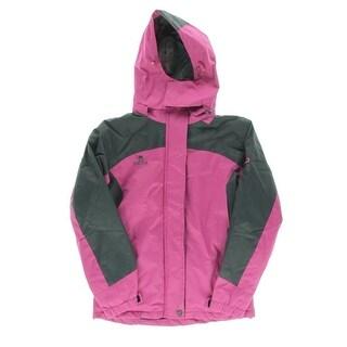 FH Can Womens Colorblock Faux Fur Lined Coat - L
