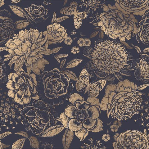 House of Hampton Peonies Removable Wallpaper - 24'' inch x 10'ft