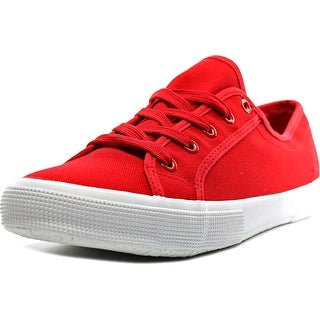 Easy Spirit Sneaker Women Round Toe Canvas Red Sneakers