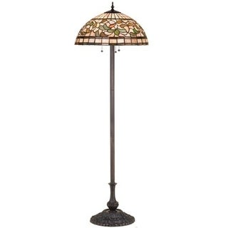Meyda Tiffany 17534 Stained Glass / Tiffany Three Light Floor Lamp