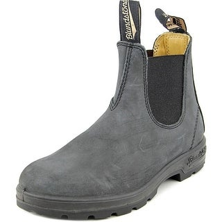 Blundstone 066 Youth Square Toe Leather Black Ankle Boot