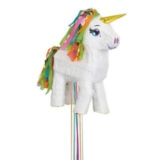White Unicorn Pull Pinata