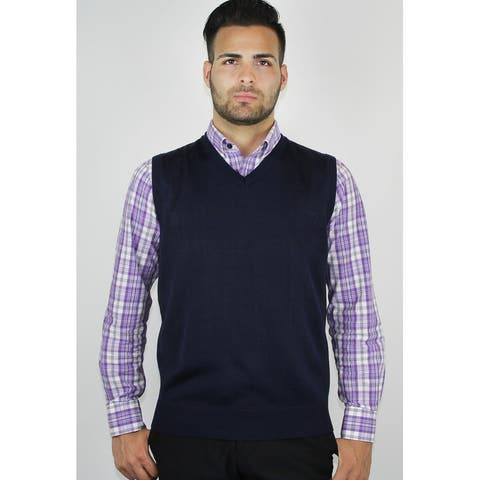 Men's Solid Sweater Vest