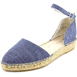 White Mountain Cave In Women Pointed Toe Canvas Blue Espadrille