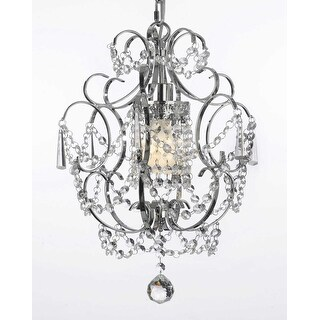 "Chrome Crystal Chandelier Lighting- H15"" x W11.5"""