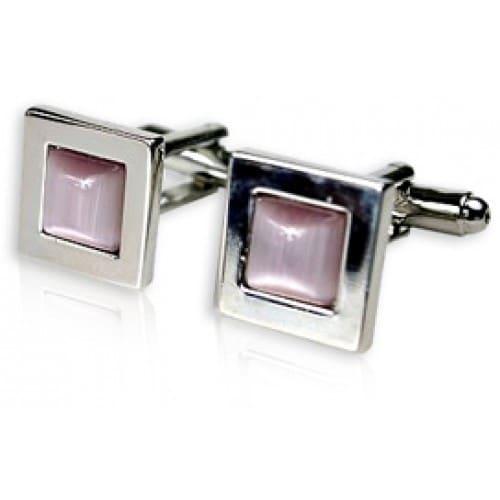 Lavendar Glass Cufflinks