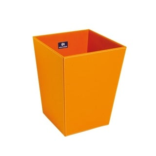"""WS Bath Collections Ecopelle 2603 11-4/5"""" Leather Waste Basket from the Complements Collection"""