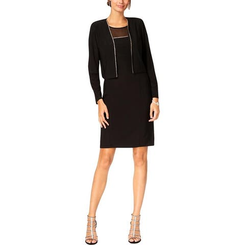 Jessica Howard Womens Dress With Jacket Party Illusion
