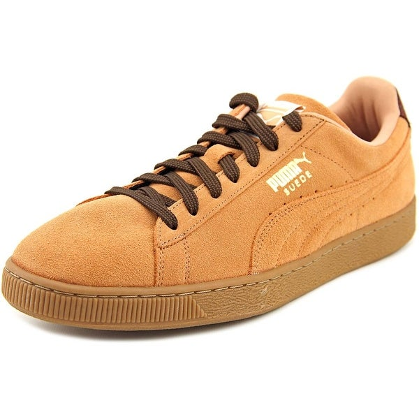 916768cee23a Puma Suede Classic Casual Emboss Men Sandstorm-Oxblood-Gum Sneakers Shoes