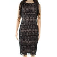 Lauren by Ralph Lauren Black Womens Size 10 Lace Sheath Dress