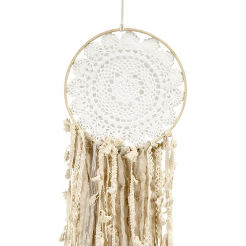 """Dream Catcher On Wood Ring 41"""" Wall Hanging-"""