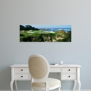 Easy Art Prints Panoramic Image 'Golf course, Cypress Point Golf Course, Pebble Beach, California' Canvas Art