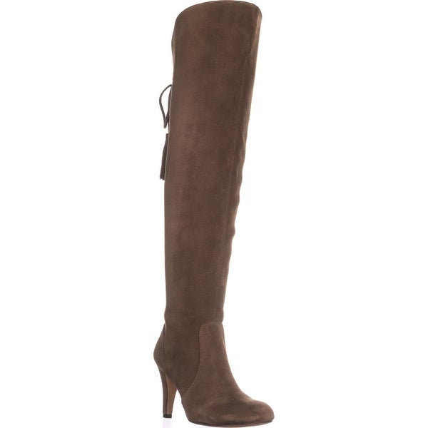 Vince Camuto Cherline Rear Lace Over-The-Knee Boots, Valleywood - 6 us / 36 eu