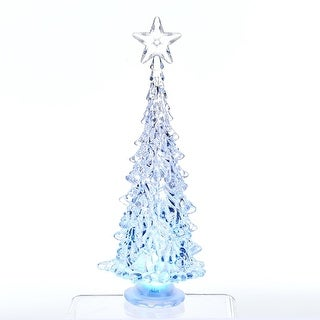 shop 10 pre lit color changing led christmas tree with star table top figure clear free shipping on orders over 45 overstockcom 18039981 - Color Changing Led Christmas Tree