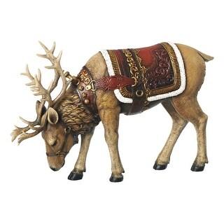 "Roman 90144ACE Christmas Reindeer Eating Figurine, Resin, 14"""