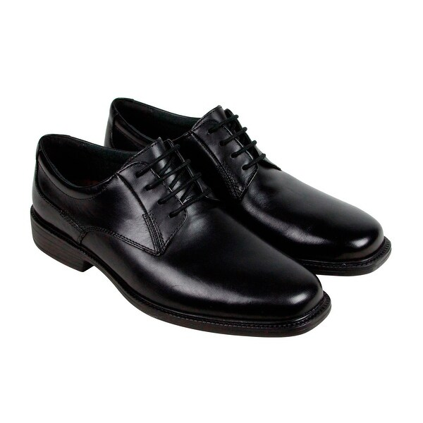 Bostonian Wendell Mens Black Leather Casual Dress Lace Up Oxfords Shoes