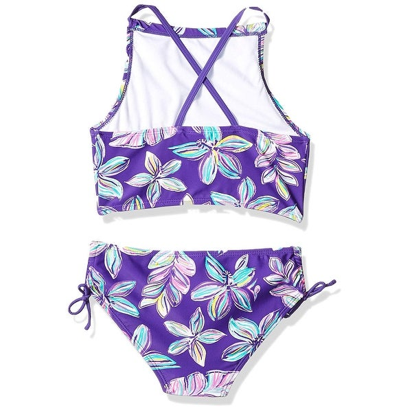 Kanu Surf Girls Daisy Halter Tankini Beach Sport 2-Piece Swimsuit Two Piece Swimsuit