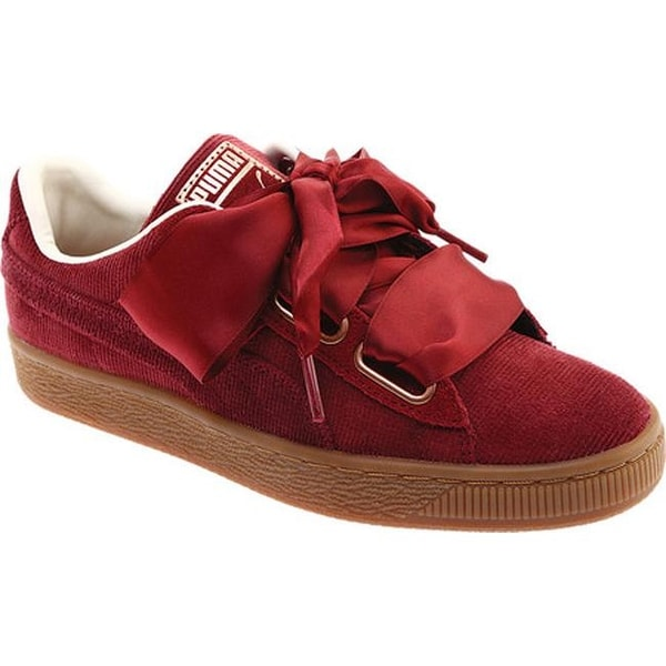 newest collection 26d71 93938 Shop PUMA Women's Basket Heart Corduroy Sneaker Pomegranate ...