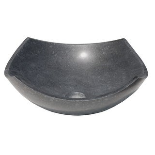 Eden Bath Arched Edges Bowl Sink - Honed Black Basalt