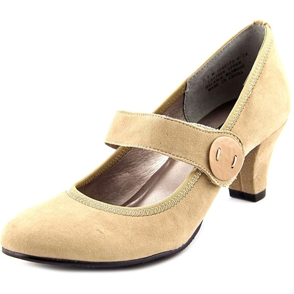 Array Sapphire Women Round Toe Suede Nude Mary Janes