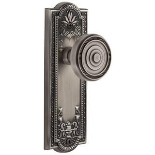 "Grandeur PARSOL_PSG_238  Parthenon Solid Brass Rose Passage Door Knob Set with Soliel Door Knob Set and 2-3/8"" Backset"