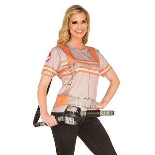 Rubies Ghostbusters Female T-Shirt Adult Costume - Grey